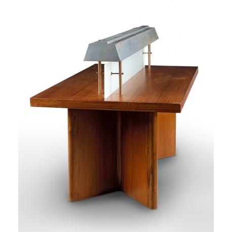 Pierre JEANNERET. Table éclairante en teck.